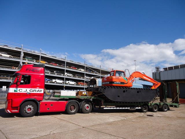 - We have a low loader plated to 80 tonnes for all types of plant and material transport.